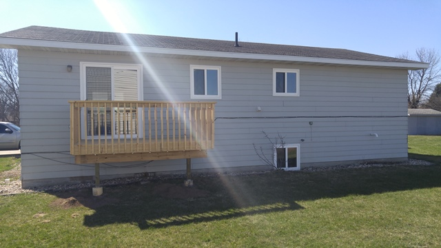 513 E 1st Duplex for Rent in Volga, SD - Patio Outside View