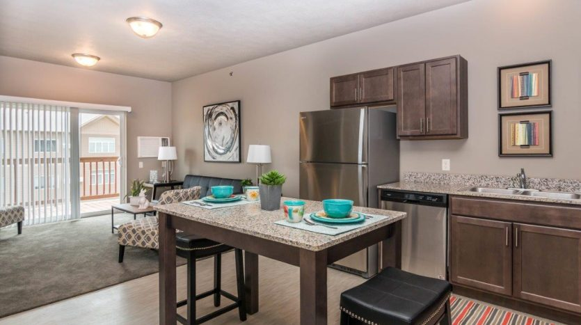 Edgerton Place Apartments in Mitchell, SD - Phase II Kitchen Island