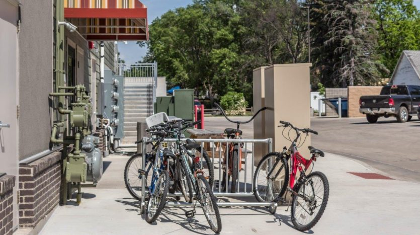 6th Street Centre Apartments in Brookings, SD - Bike Rack
