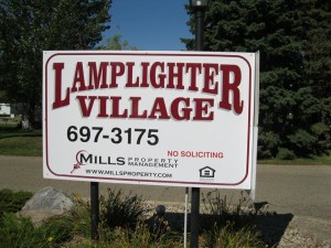 Lamplighter Village in Brookings, SD - Main Sign