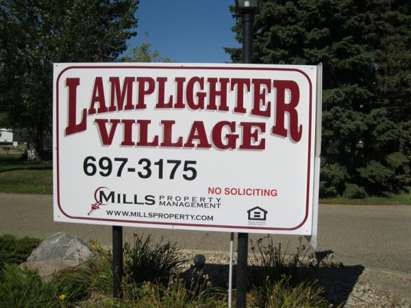 Lamplighter Village in Brookings, SD - Main Sign