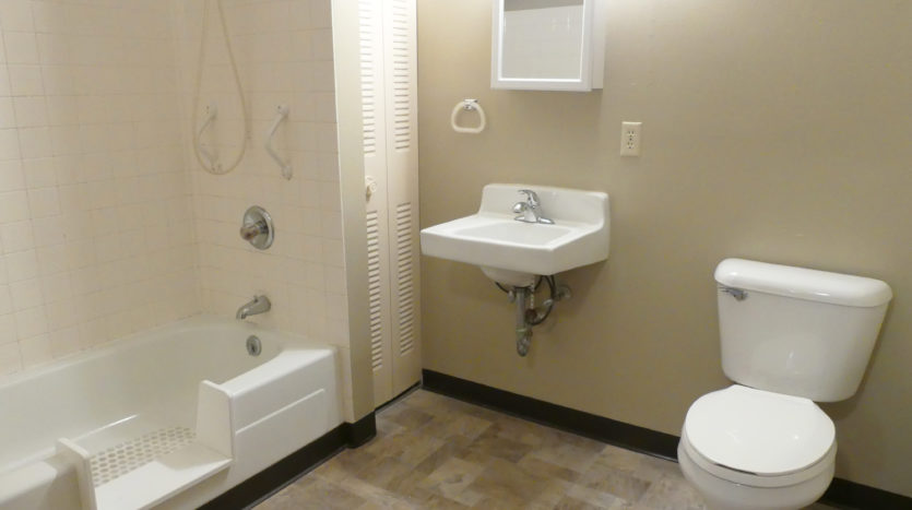 Friendship Village Senior Apartments in Dell Rapids, SD - Bathroom