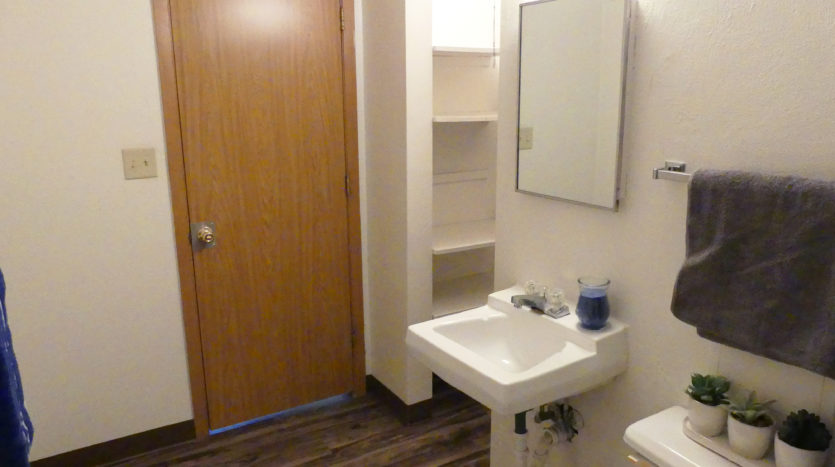 Lakeview Terrace Apartments in Chamberlain, SD - Bathroom View to Closet