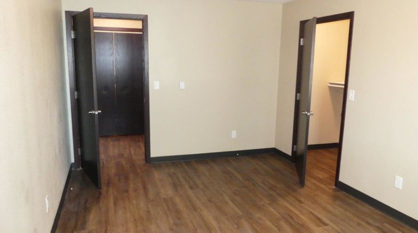 Lakota Village Townhomes in Brookings, SD - Bedroom Entry and Closet (1 Bedroom Unit)