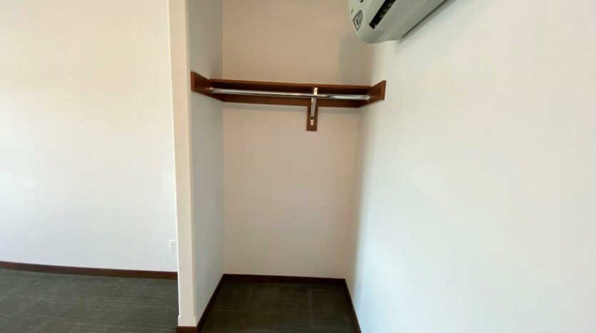 Downtown Lofts in Brookings, SD - 1 Bed Apartment Bedroom Closet