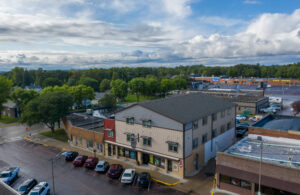 Downtown Lofts in Brookings, SD - Drone1