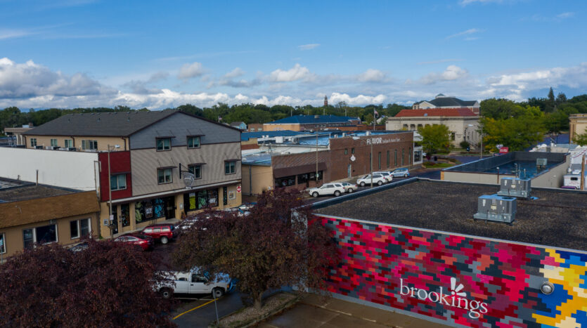 Downtown Lofts in Brookings, SD - Drone2