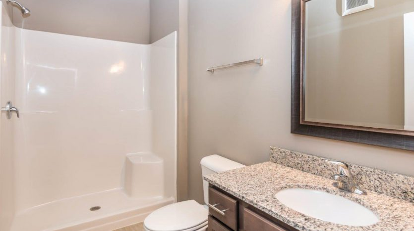 Edgerton Place Apartments in Mitchell, SD - Phase II Studio Bathroom