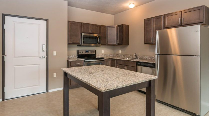 Edgerton Place Apartments in Mitchell, SD - Phase II Studio Kitchen
