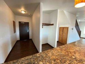 Downtown Lofts in Brookings, SD - 2 Bed Apartment Front Entrance and Storage