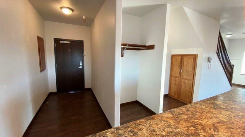 Downtown Lofts in Brookings, SD - Front Entrance and Storage