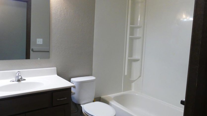 Clairview Apartments in Brookings, SD - 2 Bedroom Updated Apartment Bathroom