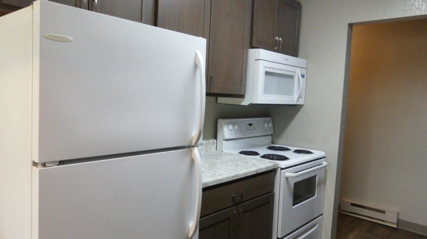 Clairview Apartments in Brookings, SD - 2 Bedroom Updated Apartment Kitchen