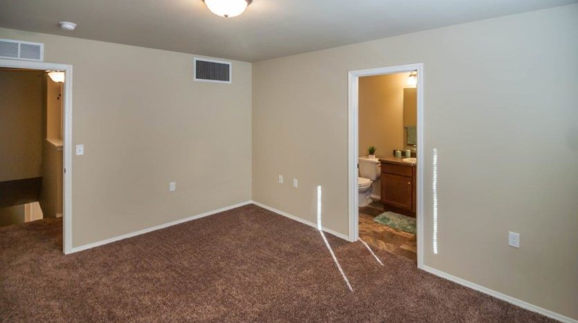 Lake Area Townhomes in Madison, SD - Bedroom with Master Bath