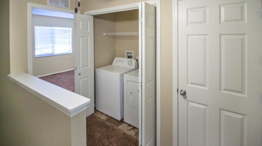 Lake Area Townhomes in Madison, SD - In Home Washer and Dryer Area