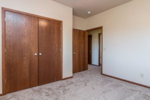 Mills Ridge Apartments in Brookings, SD - Style C Bedroom 2 Closet