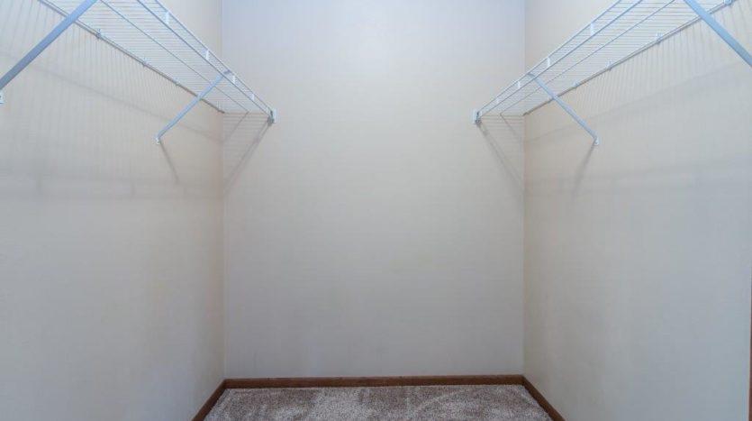 Mills Ridge Apartments in Brookings, SD - Style C Bedroom 3 Walk-In Closet