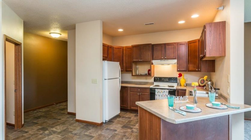 Mills Ridge Apartments in Brookings, SD - Style C Kitchen