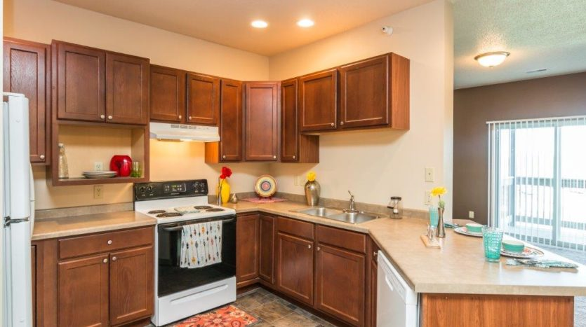 Mills Ridge Apartments in Brookings, SD - Style C Kitchen2
