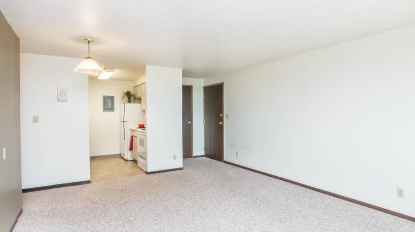 Onaka Village Apartments in Brookings, SD - Living Room to Kitchen View