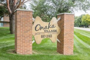 Onaka Village Apartments in Brookings, SD - Property Sign