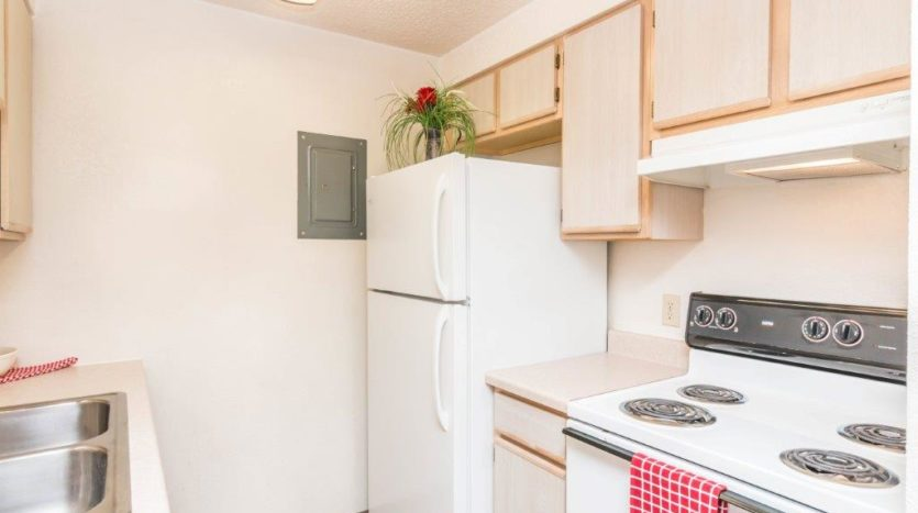 Onaka Village Apartments in Brookings, SD - Fridge and Stove