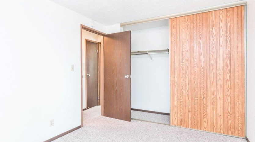 Onaka Village Apartments in Brookings, SD - Bedroom 1 Closet