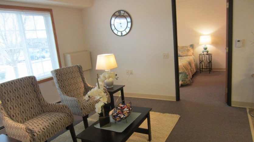 Pheasant Run Apartments in Brookings, SD - Alternative Living Room with Bedroom Entrance