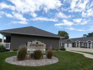 Evergreen Townhomes in Madison, SD - Property Sign