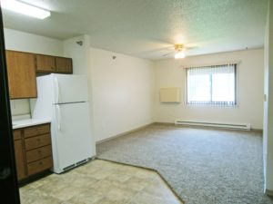 Sunrise Apartments in Yankton, SD - View to Living Room