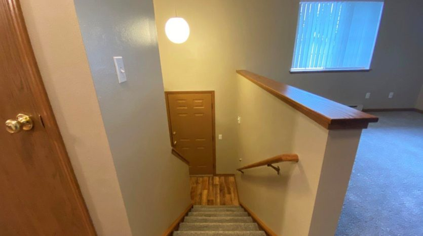 Springwood Townhomes in Watertown, SD - Upper Level Stairs