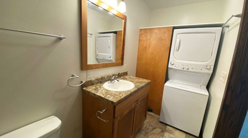 Downtown Lofts in Brookings, SD - 4 Bed Apartment Bedroom 3 Upstairs Bathroom and Laundry