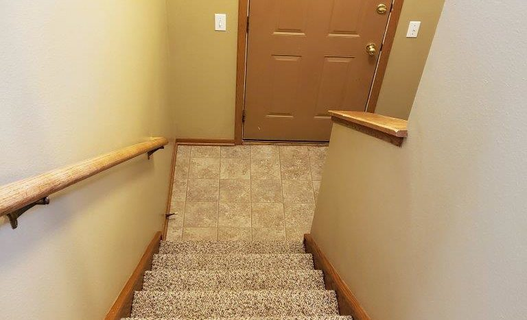 Three Oaks II Townhomes in Watertown, SD - Staircase to Upstairs