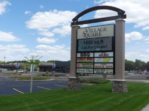 Village Square Mall in Brookings, SD - Sign