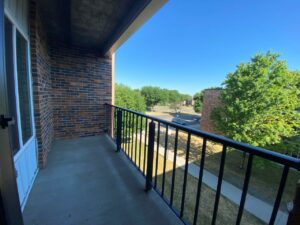 Arrowhead Apartments in Brookings, SD - Updated Apartment Balcony