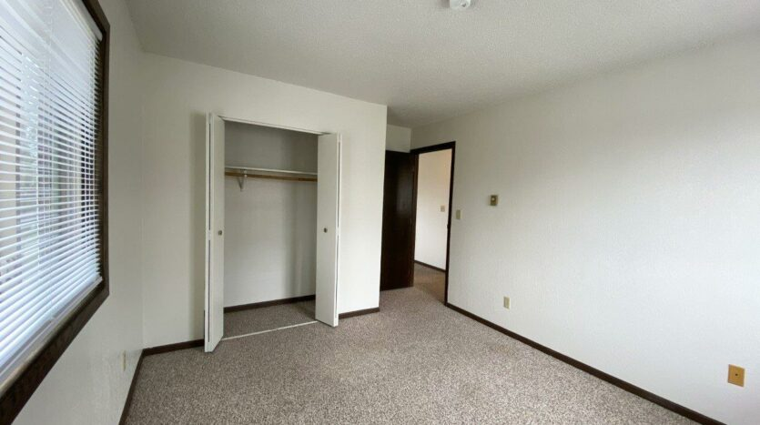 Clairview Apartments in Brookings, SD - 2 Bedroom Apartment Bedroom 1 Closet