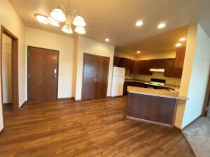 Mills Ridge Apartments in Brookings, SD - Style A Dining and Kitchen