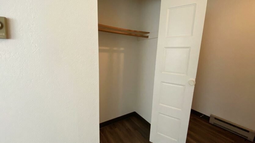 Clairview Apartments in Brookings, SD - 1 Bedroom Apartment Front Closet