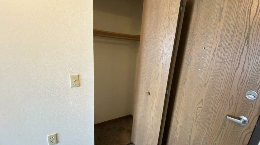 Pheasant Valley Courtyard Apartments in Milbank, SD - Front Closet