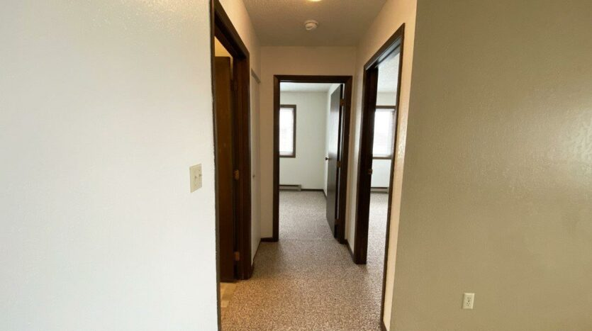 Clairview Apartments in Brookings, SD - 2 Bedroom Apartment Hallway