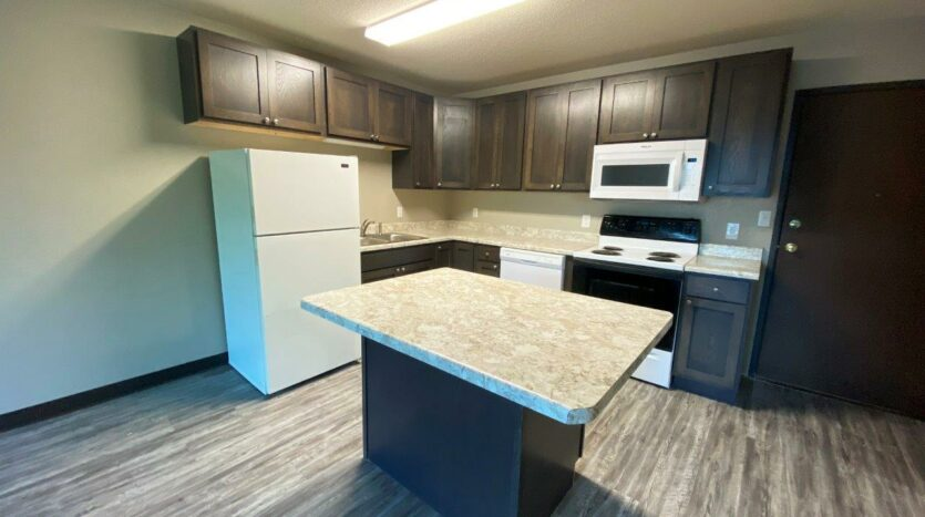 Arrowhead Apartments in Brookings, SD - Updated Apartment Kitchen