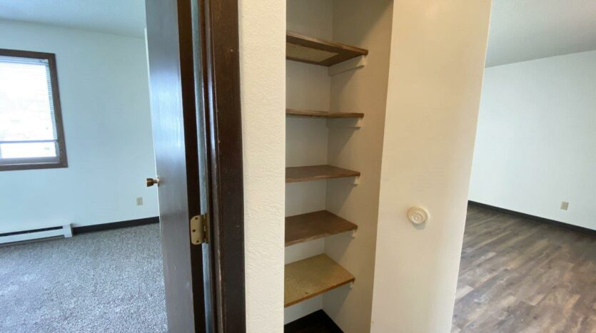 Clairview Apartments in Brookings, SD - 1 Bedroom Apartment Linen Closet