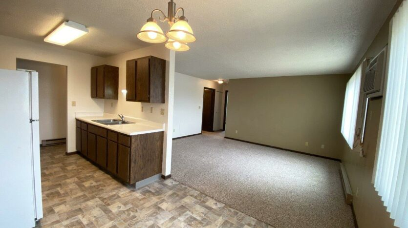Clairview Apartments in Brookings, SD - 2 Bedroom Apartment Living Area