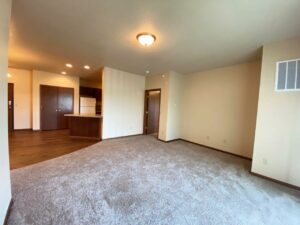 Mills Ridge Apartments in Brookings, SD - Style A Living Room2