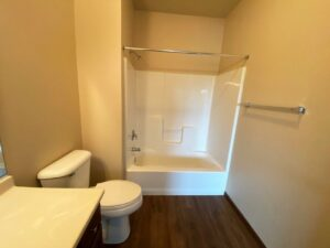 Mills Ridge Apartments in Brookings, SD - Style A Bedroom 2 Attached Bathroom