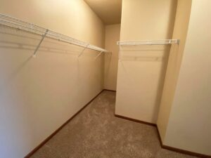 Mills Ridge Apartments in Brookings, SD - Style A Bedroom 2 Walk-In Closest2