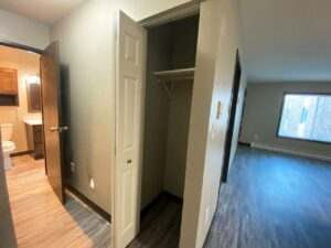 Arrowhead Apartments in Brookings, SD - Updated Apartment Front Closet
