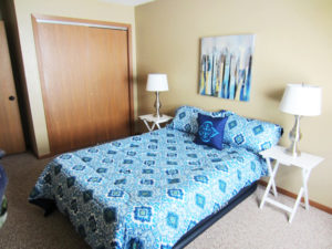 Campus View Apartments in Brookings, SD - Furnished Bedroom