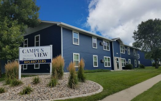 Campus View Apartments in Brookings, SD - Property Sign
