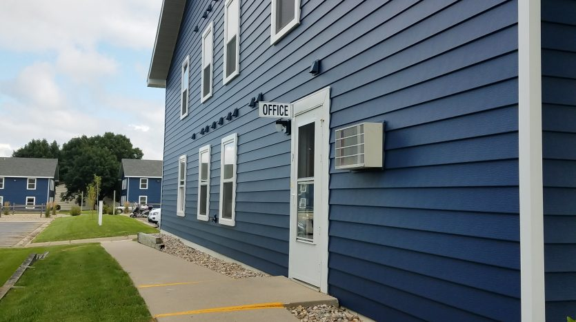 Campus View Apartments in Brookings, SD - On-Site Management Office Entrance, Bldg 2225 #9